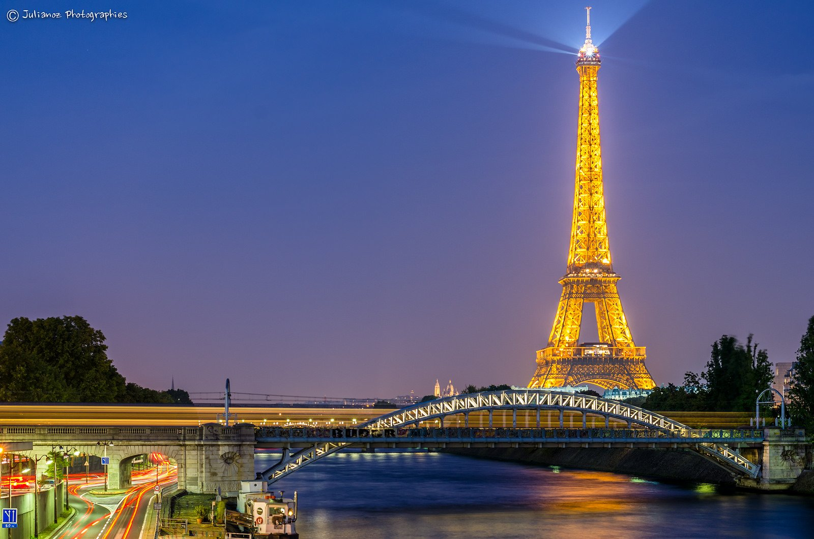 Architecture Cities France Light Towers Monuments Night