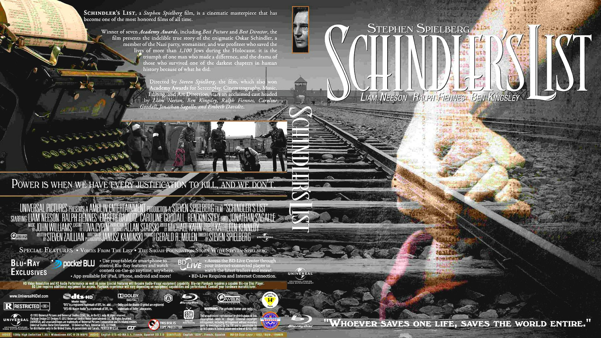 a brief review of the film the schindlers list Film 94 – steven spielberg on schindler's list as part of the review of there's also a brief obituary for john candy.