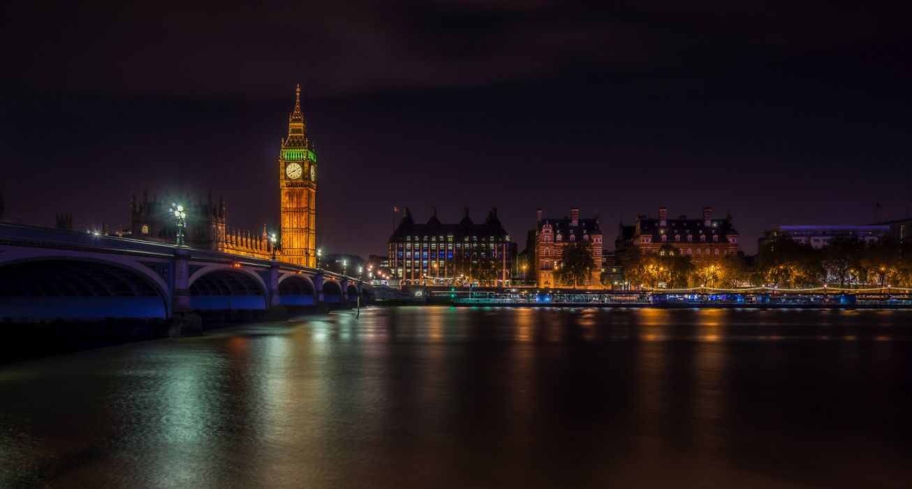 architecture building tower cities Light londres london angleterre England uk united kingdom tamise towers rivers bridges monuments Night panorama panoramic Urban wallpaper
