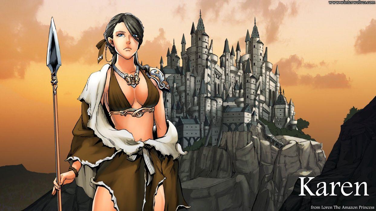 Loren the Amazon Princess Karen video game android pc mac wallpaper
