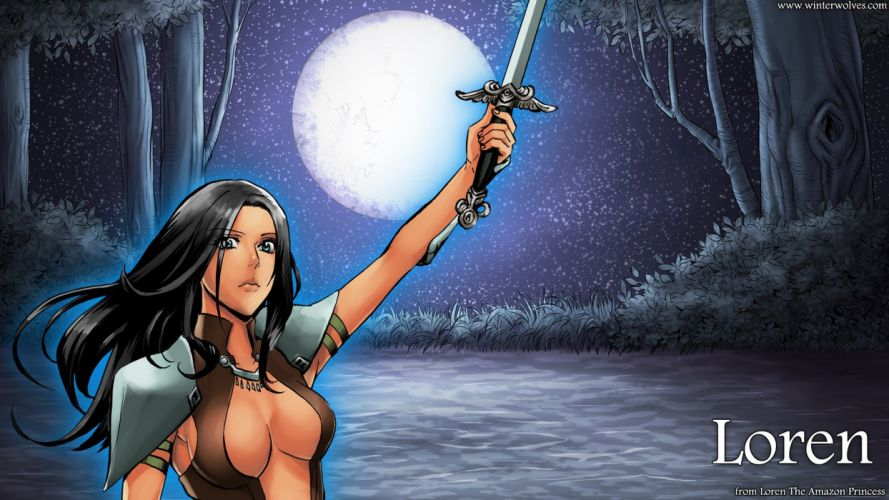 Loren the Amazon Princess Loren video game android pc mac wallpaper