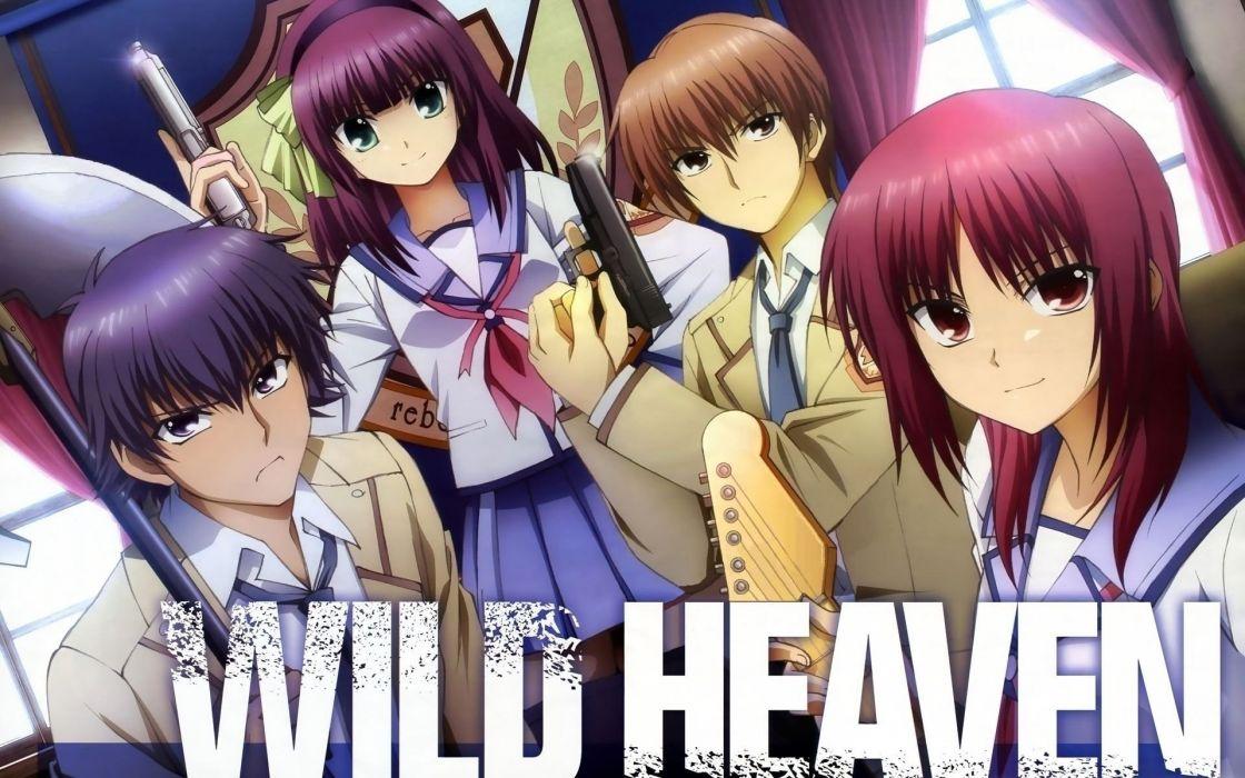 angel beats anime tv show wallpaper