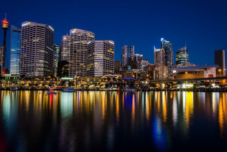 architecture bridges building hotel cities way Sydney opera Light monuments Night panorama panoramic ray sea tasmanie tasmania australia australie tower towers wallpaper