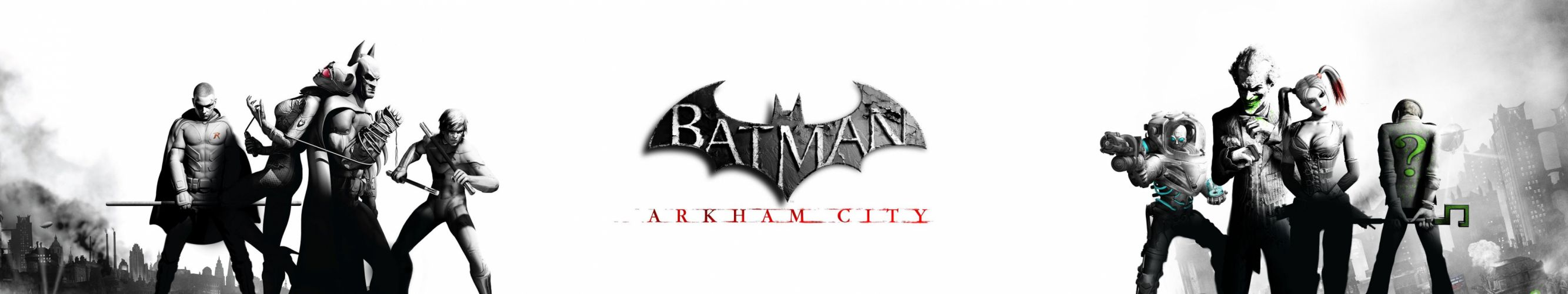 triple screen multiple monitors multi batman movie film arkham city wallpaper