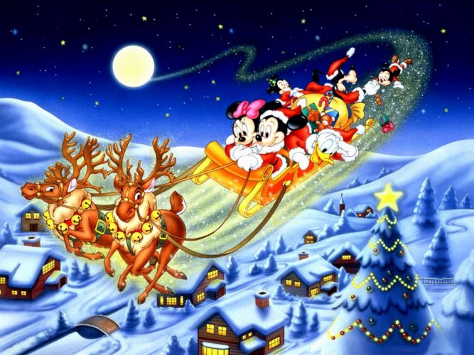 CHRISTMAS holiday disney mickey wallpaper