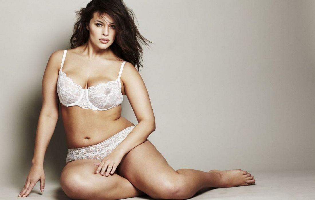 Ashley Graham model curves woman beauty brunette wallpaper