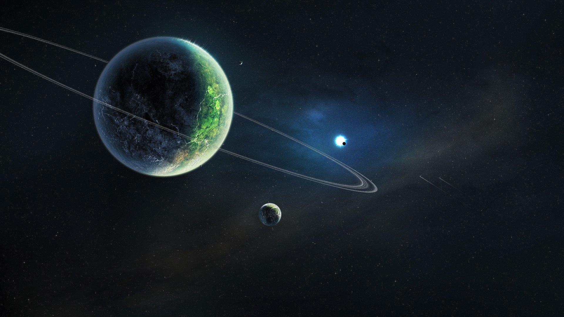 Space universe galaxy cosmos astronomy planet star colors ...