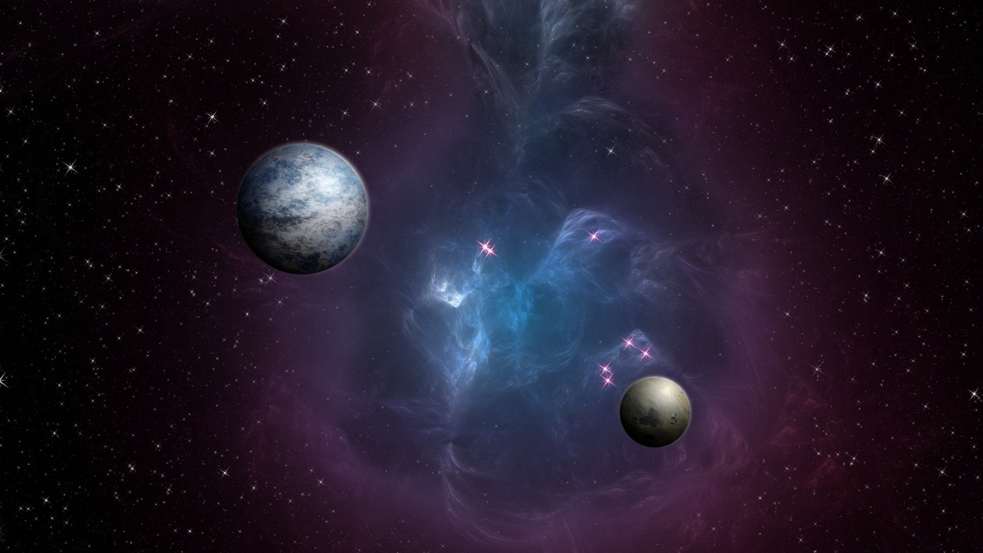 colorful galaxy planets and - photo #5