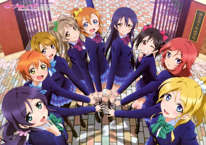Love Live! School Idol Project anime series group girls friend wallpaper