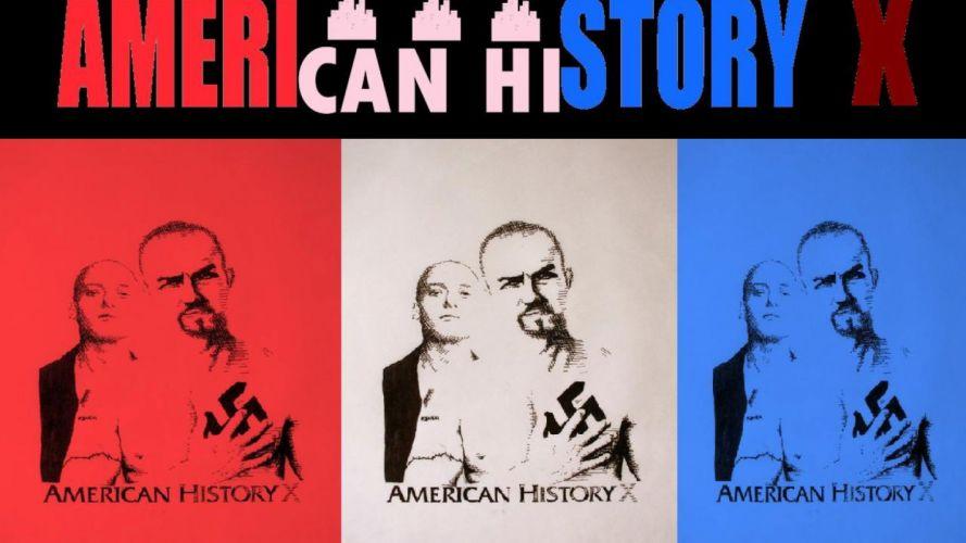 AMERICAN-HISTORY-X crime drama neo-nazi nazi american history anarchy wallpaper