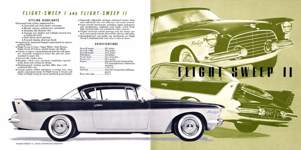 1955 Chrysler Flight Sweep I Concept retro h wallpaper