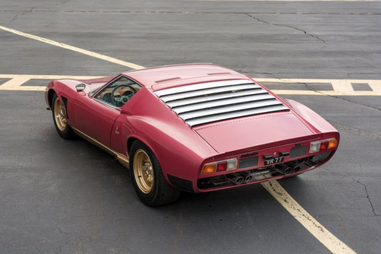 1971 Lamborghini Miura P400 SVJ supercar classic wallpaper