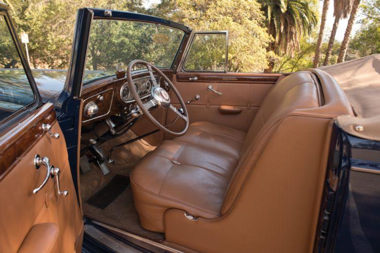 1937 Packard Twelve Coupe Roadster (1507-1039) luxury retro wallpaper