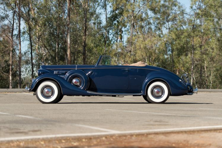 1937 Packard Twelve Coupe Roadster (1507-1039) luxury retro wallpaper