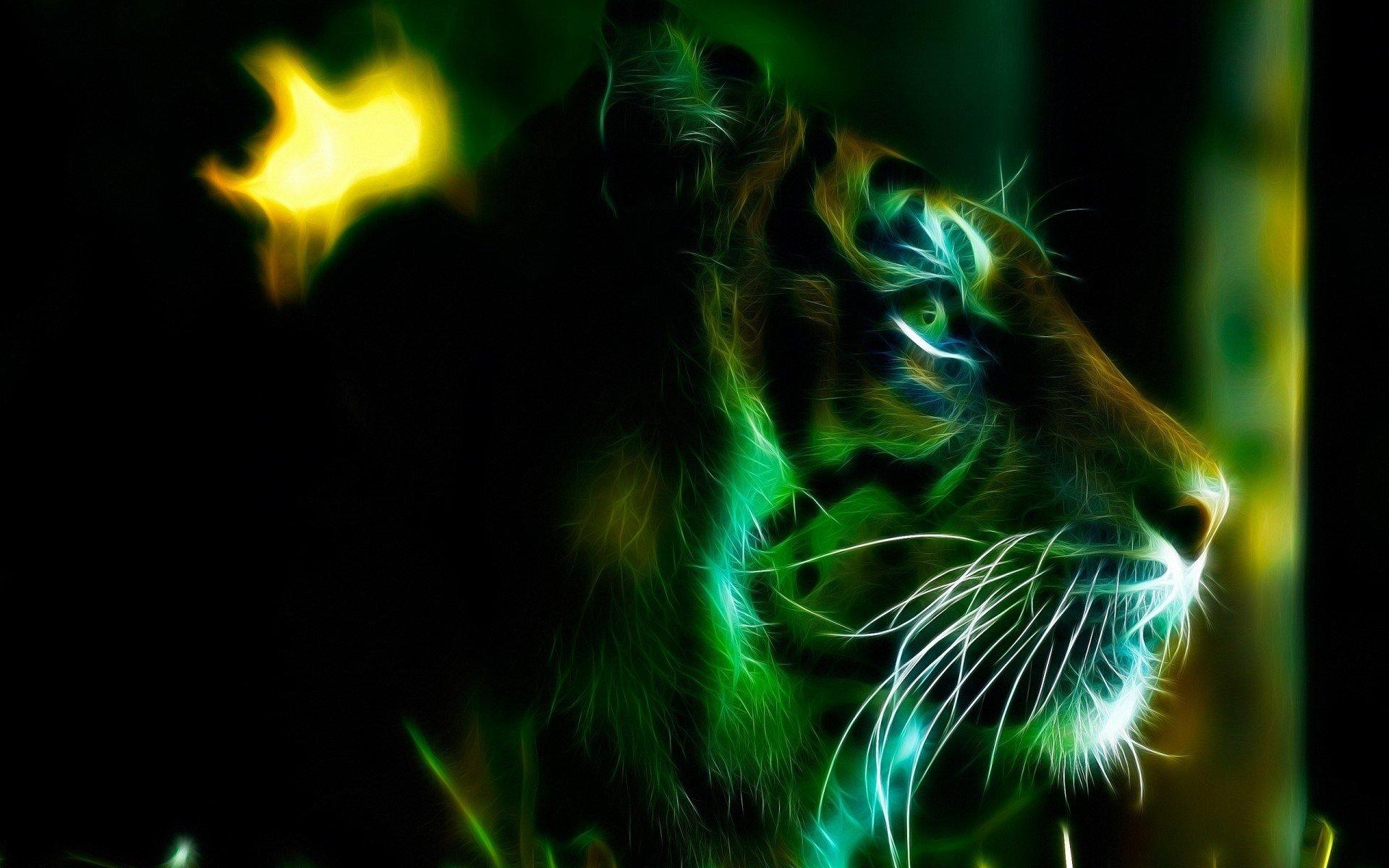 3d tiger photoshop fractal wallpaper | 1920x1200 | 541524 | wallpaperup