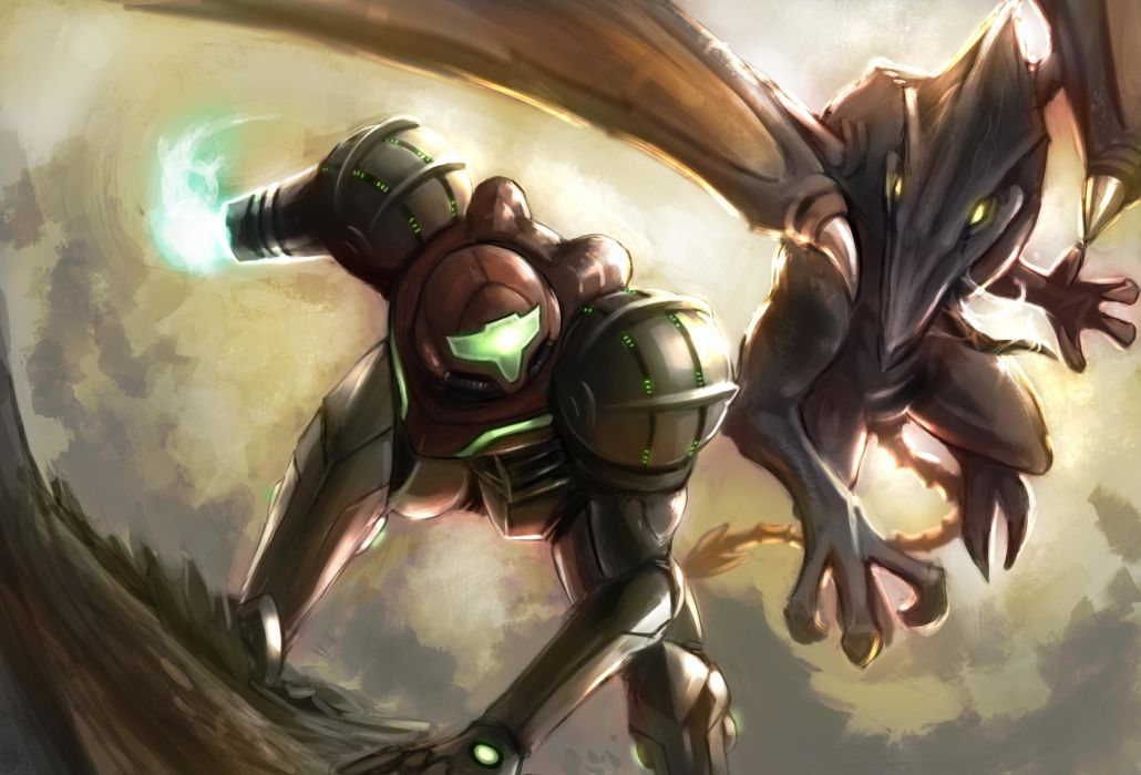 Battle Dragon Warrior Metroid Ridley Samus Aran Armor Anime Fantasy Wallpaper