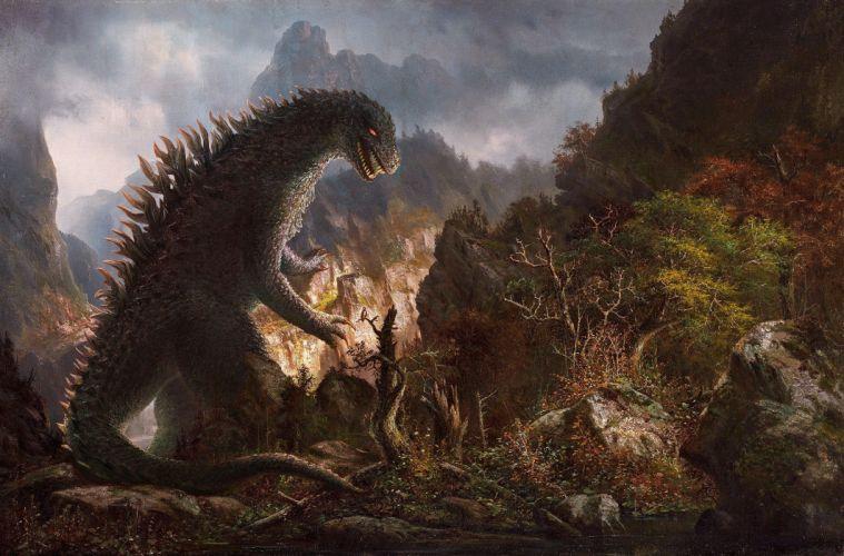 Monster Godzilla Fantasy dinosaur wallpaper