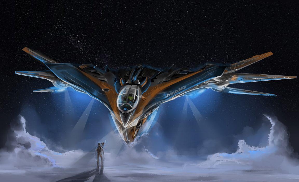 Technics Fantasy Guardians of the Galaxy Groot Movie spaceship wallpaper