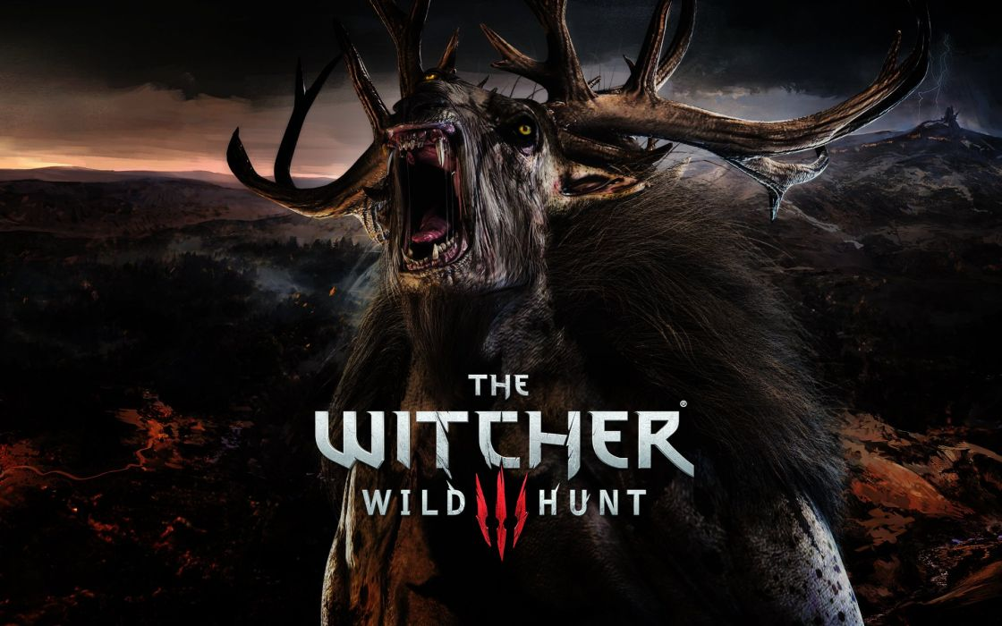 The Witcher 3 Wild Hunt Monster Horns Games Fantasy wallpaper