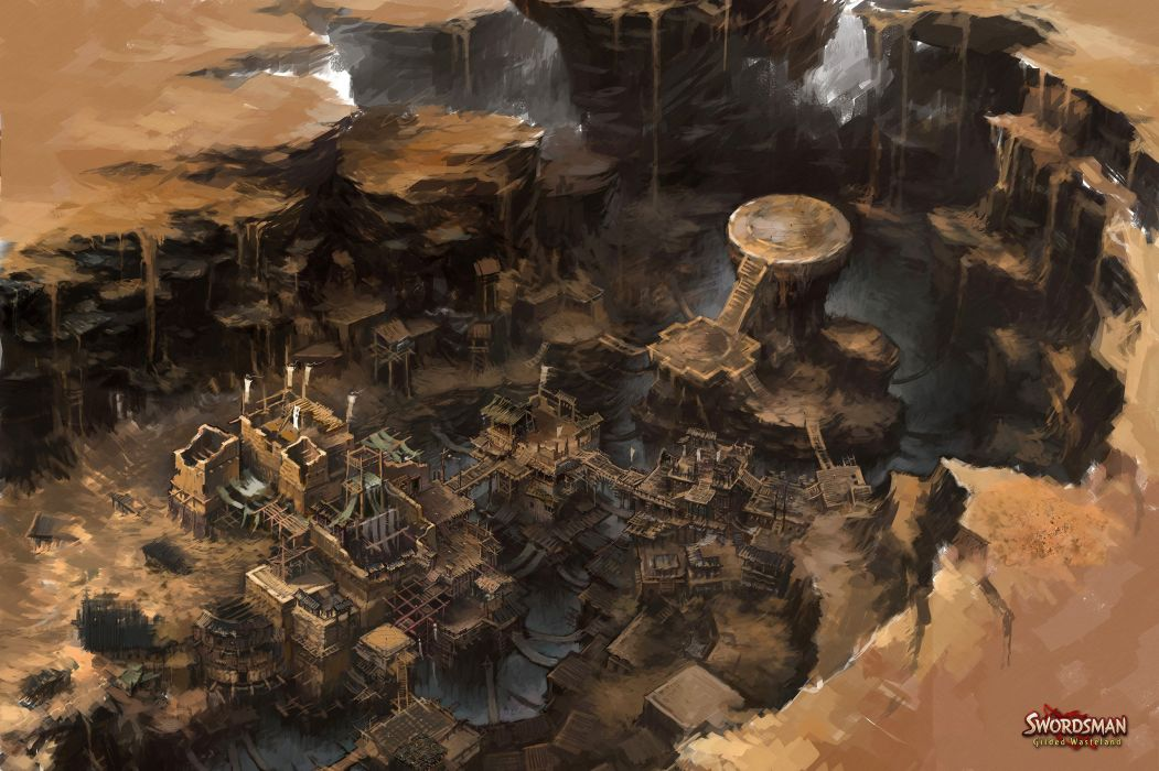 SWORDSMAN GILDED-WASTELAND mmo online fantasy martial fighting guilded wasteland sandbox wallpaper