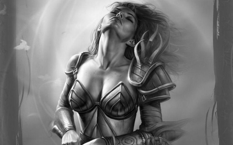 NEVERWINTER NIGHTS rpg fantasy adventure fighting mmo warrior wallpaper