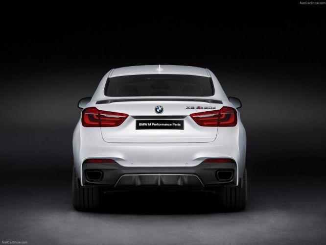 2014 BMW X6 M Performance Parts cars suv white wallpaper