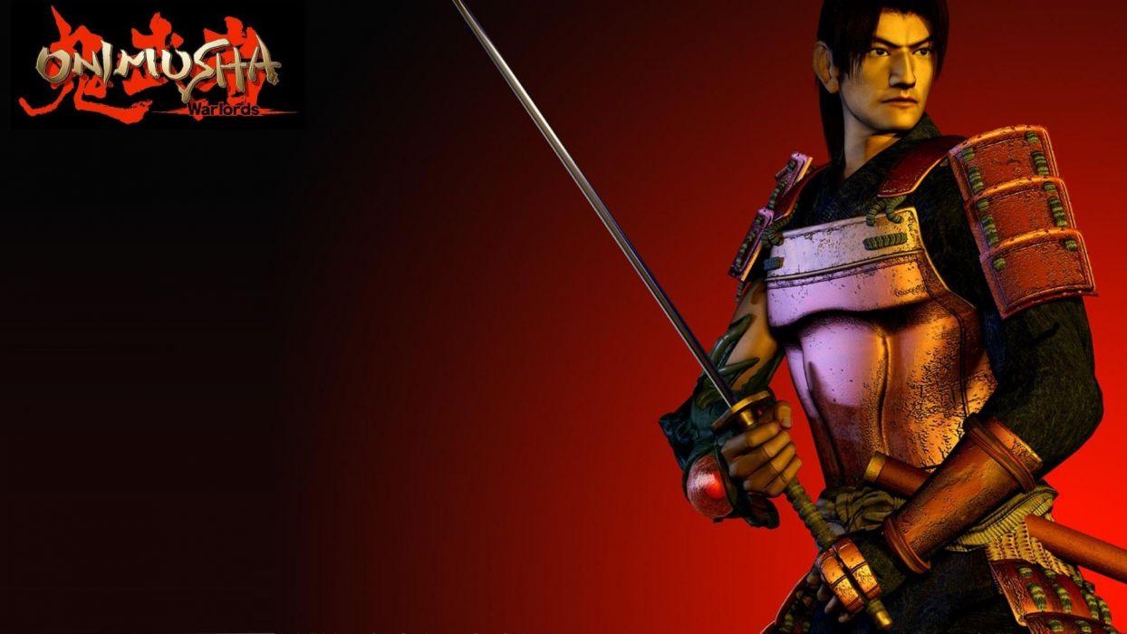 ONIMUSHA action adventure fantasy warrior ninja samurai fighting puzzle wallpaper