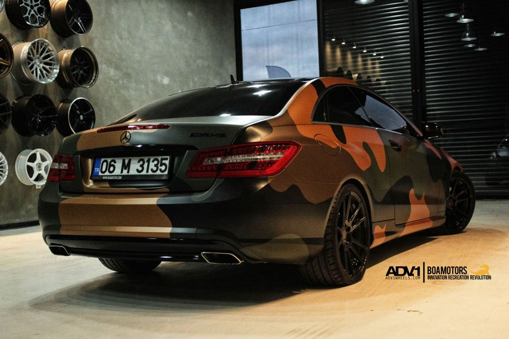 ADV1 wheels MERCEDES E-CLASS COUPE wrapping tuning cars  wallpaper
