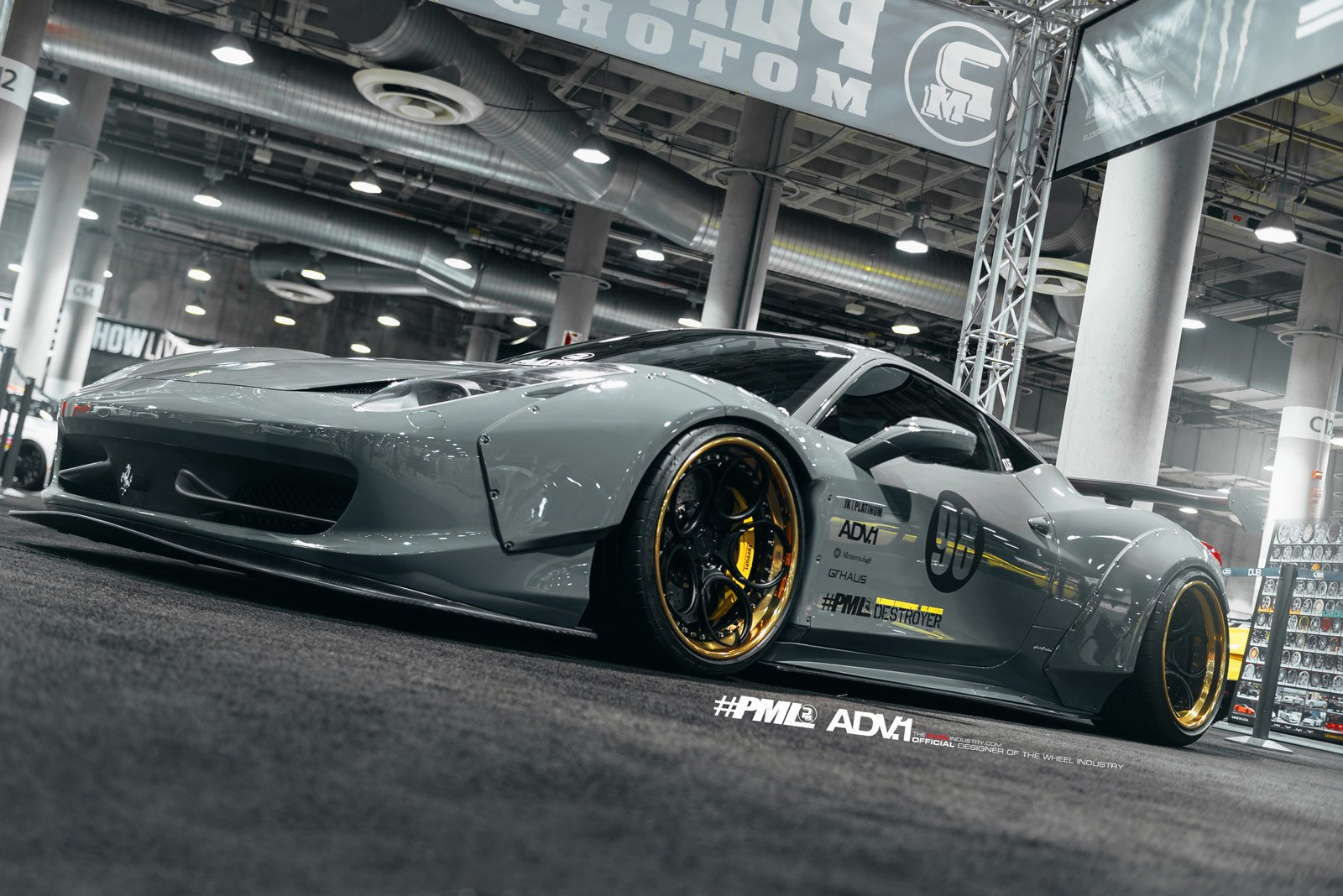 Adv1 Wheels Ferrari 458 Platinum Liberty Walk Suv Tuning Cars Wallpaper 1600x1068 542632 Wallpaperup