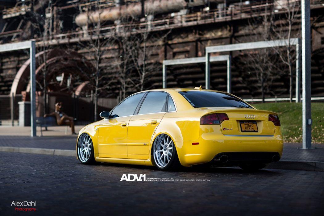 ADV1 wheels AUDI RS4 tuning cars wallpaper