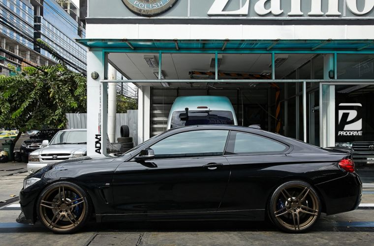 ADV1 wheels BMW F32 435I coupe tuning cars wallpaper