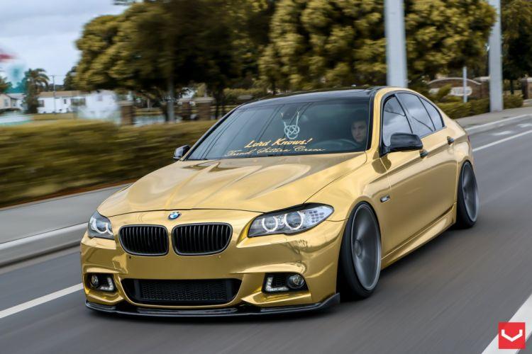 vossen wheels BMW 5 series tuning cars wallpaper