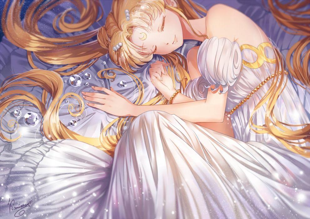 serenity anime series character long hair blonde girl cute sailor moon wallpaper