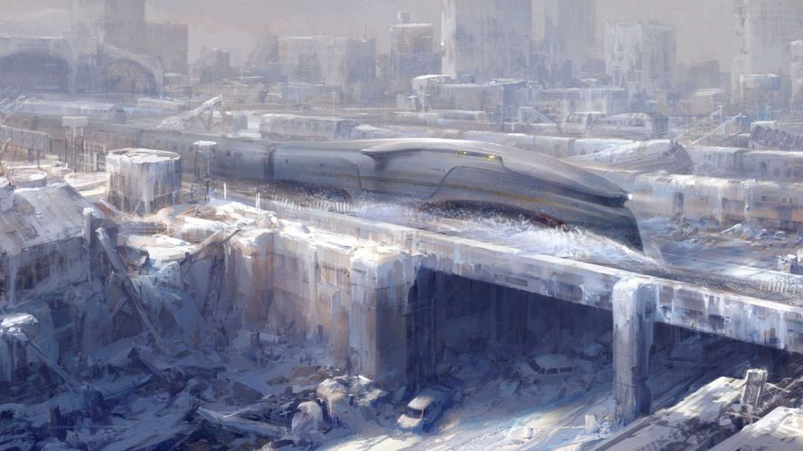 SNOWPIERCER sci-fi action apocalyptic thriller train survival wallpaper