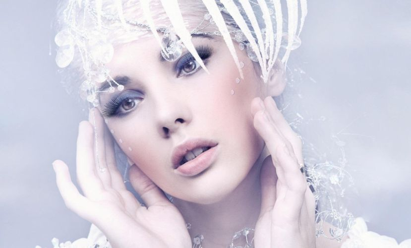 FACE - lips beauty white wallpaper