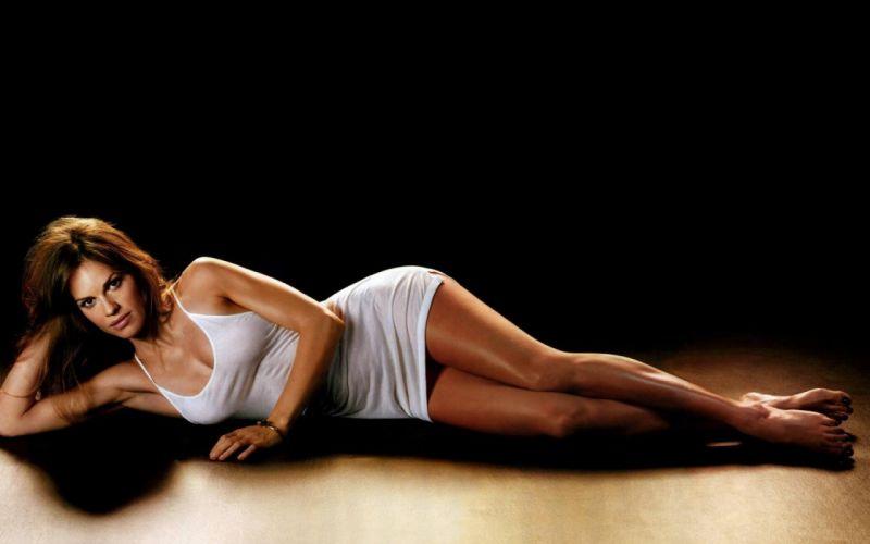HILARY SWANK - celebrities brunette shirt shadow wallpaper