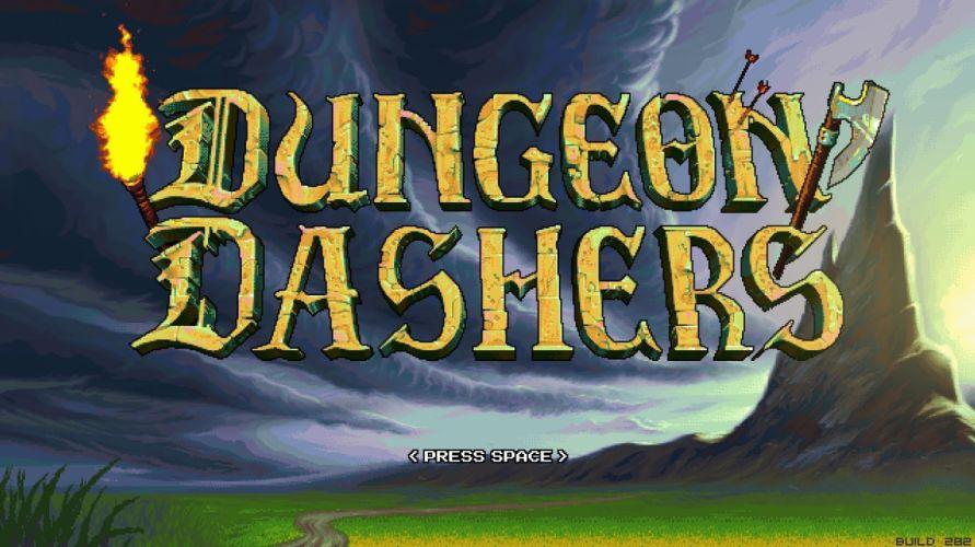 DUNGEON DASHERS crawler rpg action adventure fantasy f wallpaper