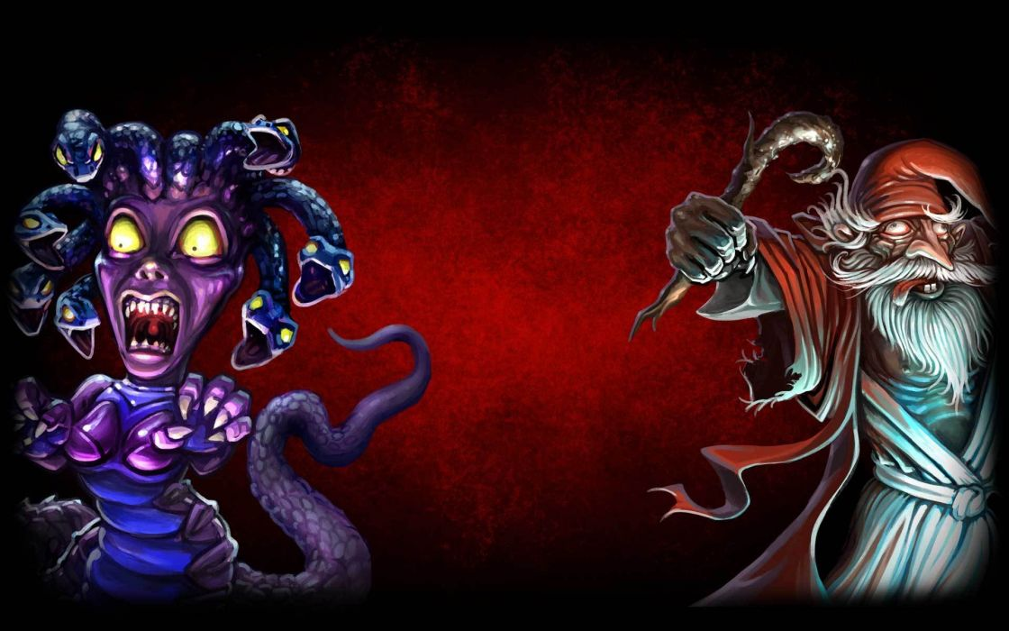 DESKTOP DUNGEONS fantasy puzzle dungeon crawler action rpg wallpaper