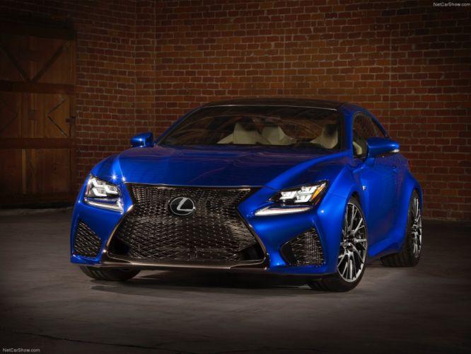 2015 cars Coupe Lexus rc f blue wallpaper