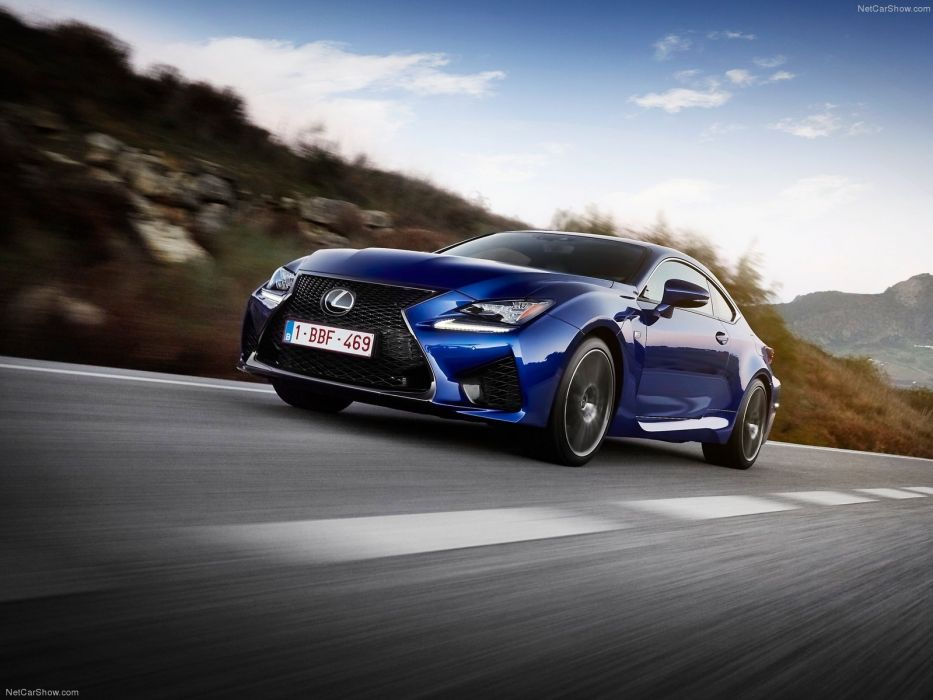 2015 cars Coupe Lexus rc f blue wallpaper