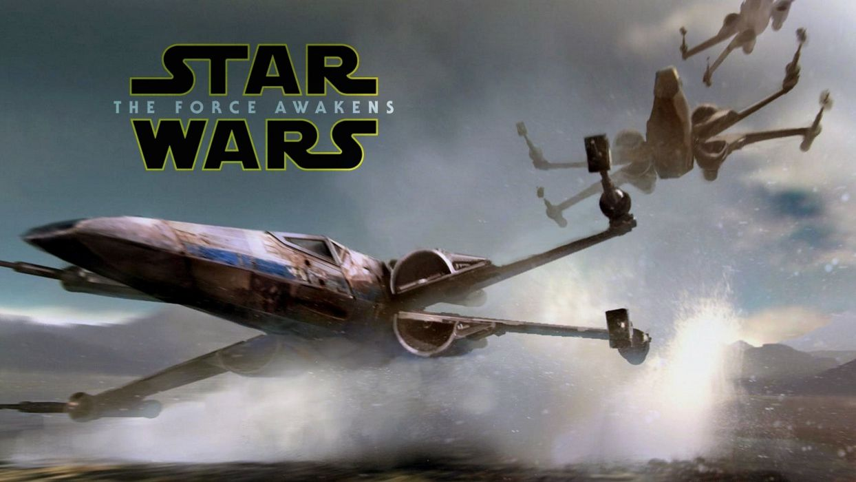 STAR WARS FORCE AWAKENS sci-fi action adventure spaceship wallpaper