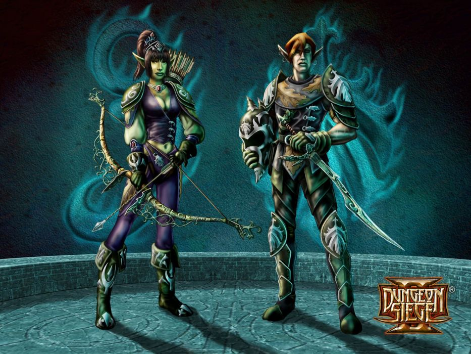 DUNGEON SIEGE rpg fantasy action adventure fighting warrior wallpaper