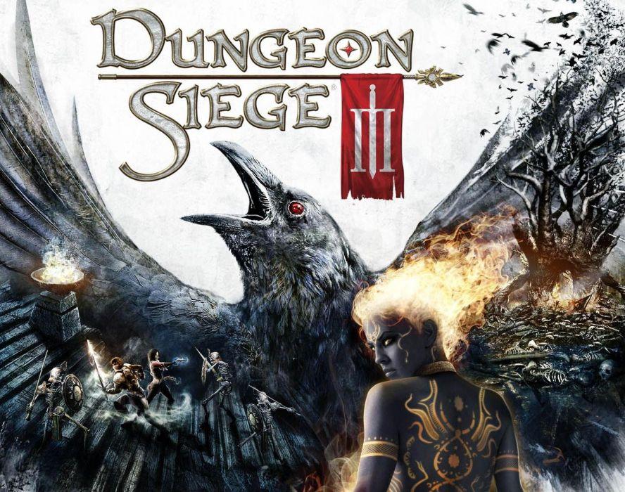 DUNGEON SIEGE rpg fantasy action adventure fighting warrior wallpaper