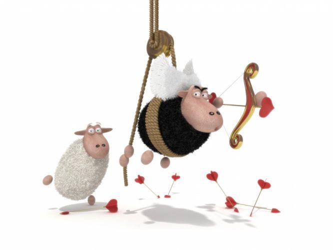 OwdLarrd Funny Sheep Cartoon Sheep wallpaper