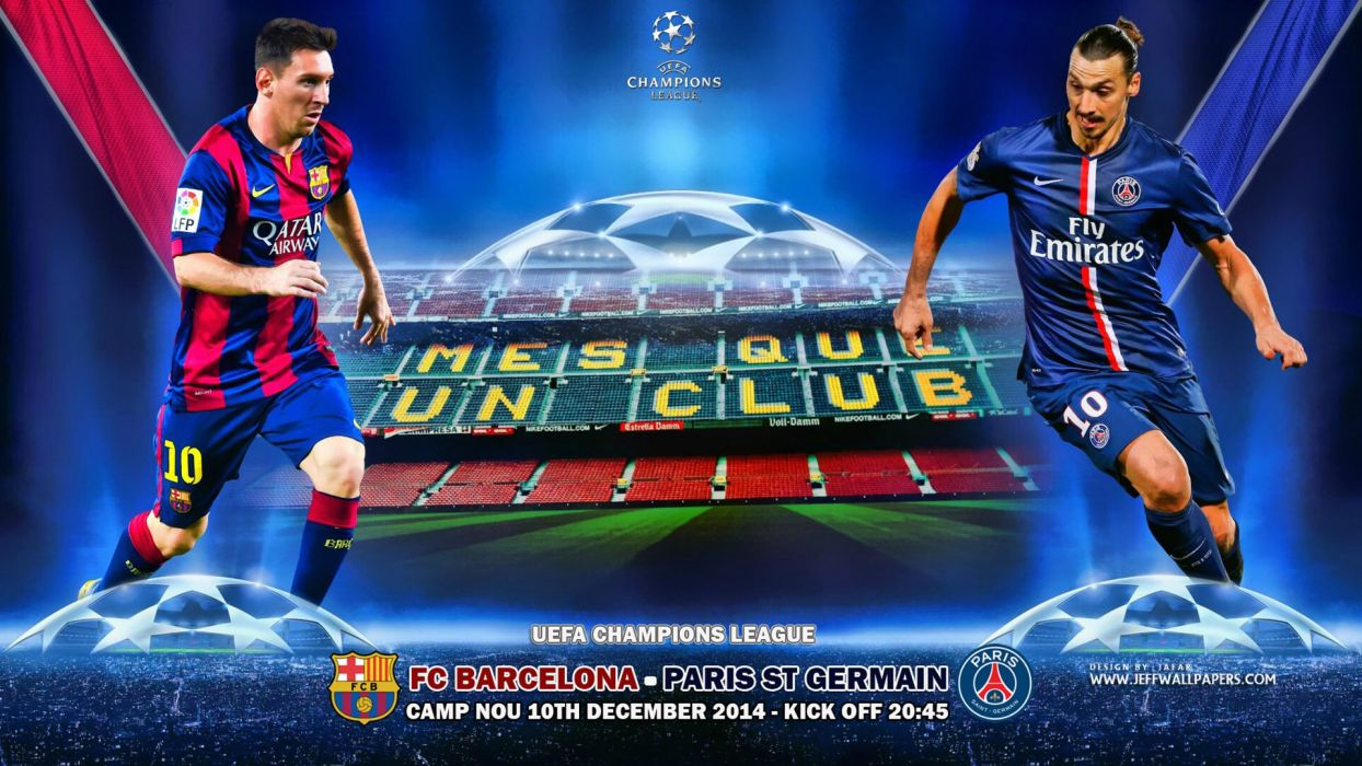 FC Barcelona Vs Paris Saint Germain UCL 2014