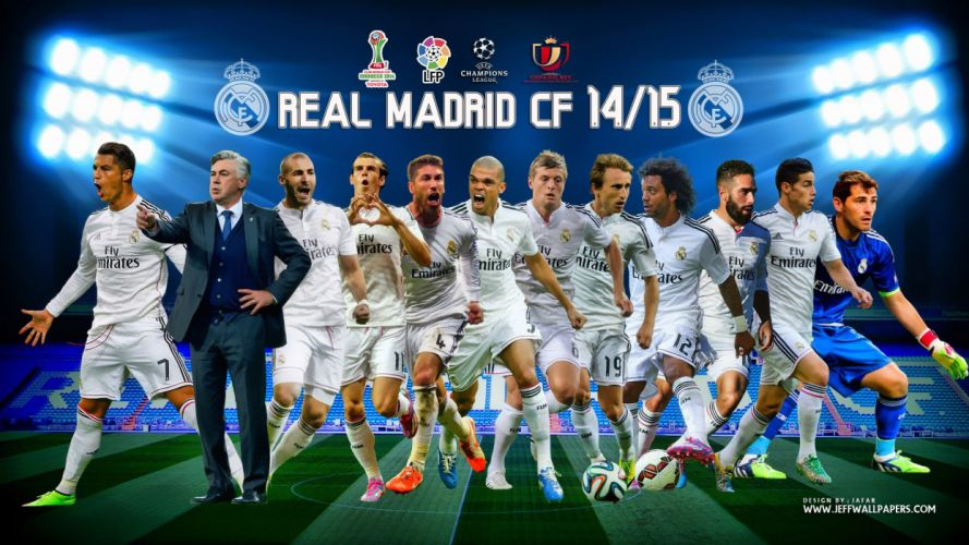 Real-Madrid-CF-2014-2015-First-11-Team wallpaper
