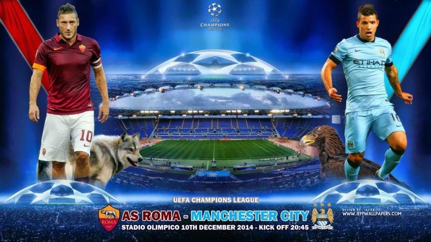 AS-Roma-vs-Manchester-City-FC-UCL-2014-2015 wallpaper