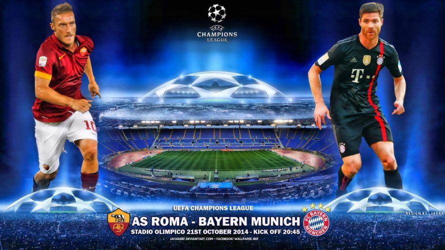 AS-Roma-vs-FC-Bayern-Munchen-2014-15-Champions wallpaper
