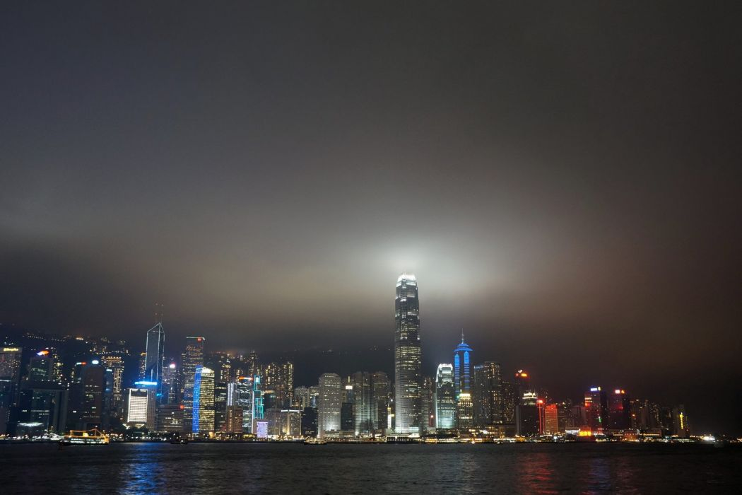 architecture bridge buildings cities cityscape contrast empire Lights Night panorama Place rivers scenic shift skyline skyscrapers view water window world china honkong wallpaper