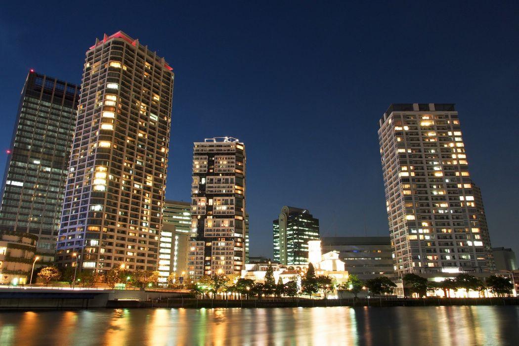 architecture asia Asian asians buildings City citylife cityscapes Japan skyline skylines skyscrapers Yokohama wallpaper